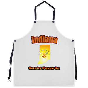Indiana Gets Its S'more On! Novelty Funny Apron - CampWildRide.com