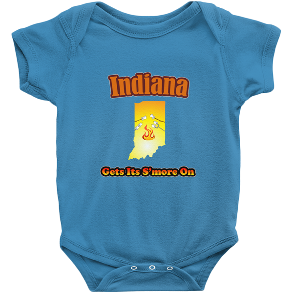 Indiana Gets Its S'more On! Novelty Infant One-Piece Baby Bodysuit