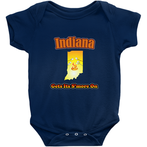 Indiana Gets Its S'more On! Novelty Infant One-Piece Baby Bodysuit - CampWildRide.com