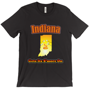 Indiana Gets Its S'more On! Novelty Short Sleeve T-Shirt - CampWildRide.com