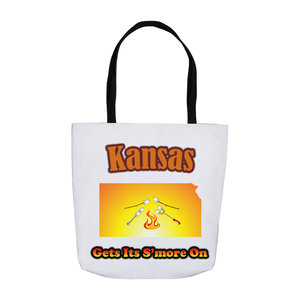 Kansas Gets Its S'more On! Novelty Funny Tote Bag Reusable - CampWildRide.com