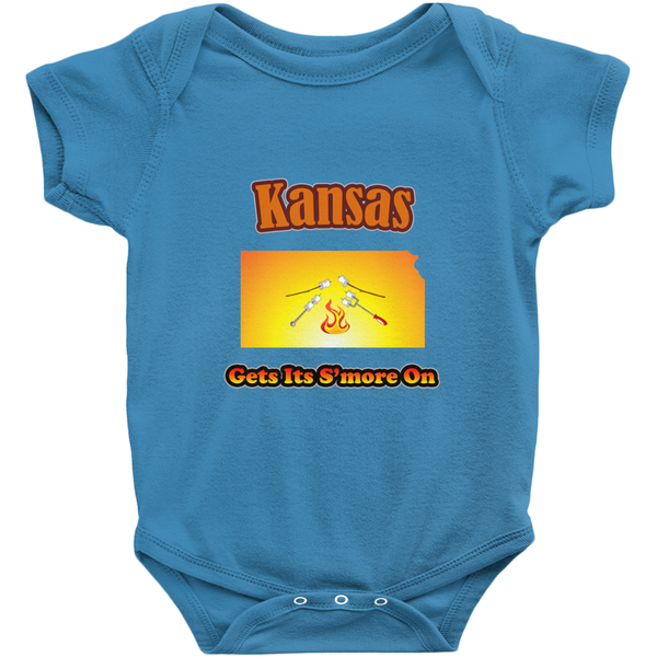 Kansas Gets Its S'more On! Novelty Infant One-Piece Baby Bodysuit
