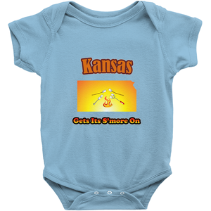 Kansas Gets Its S'more On! Novelty Infant One-Piece Baby Bodysuit - CampWildRide.com