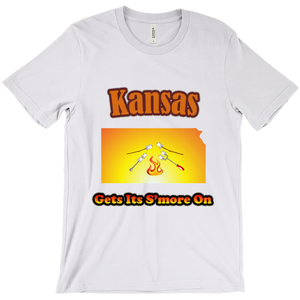 Kansas Gets Its S'more On! Novelty Short Sleeve T-Shirt - CampWildRide.com