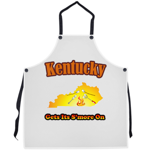 Kentucky Gets Its S'more On! Novelty Funny Apron - CampWildRide.com
