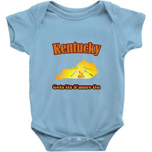 Kentucky Gets Its S'more On! Novelty Infant One-Piece Baby Bodysuit - CampWildRide.com