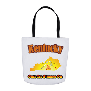 Kentucky Gets Its S'more On! Novelty Funny Tote Bag Reusable - CampWildRide.com