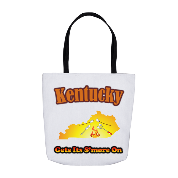 Kentucky Gets Its S'more On! Novelty Funny Tote Bag Reusable