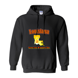 Louisiana Gets Its S'more On! Novelty Hoodies (No-Zip/Pullover) - CampWildRide.com
