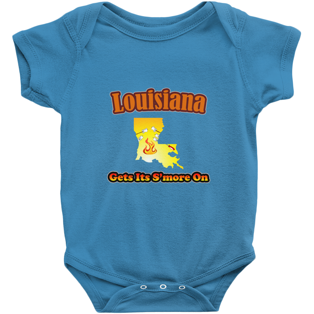 Louisiana Gets Its S'more On! Novelty Infant One-Piece Baby Bodysuit - CampWildRide.com