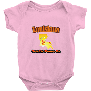 Louisiana Gets Its S'more On! Novelty Infant One-Piece Baby Bodysuit