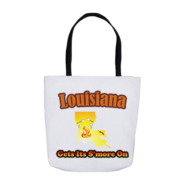 Louisiana Gets Its S'more On! Novelty Funny Tote Bag Reusable - CampWildRide.com