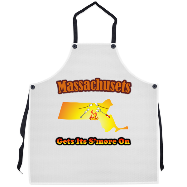Massachusetts Gets Its S'more On! Novelty Funny Apron - CampWildRide.com