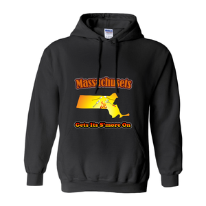 Massachusetts Gets Its S'more On! Novelty Hoodies (No-Zip/Pullover)