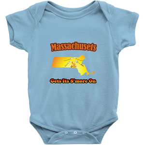 Massachusetts Gets Its S'more On! Novelty Infant One-Piece Baby Bodysuit