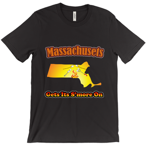 Massachusetts Gets Its S'more On! Novelty Short Sleeve T-Shirt - CampWildRide.com