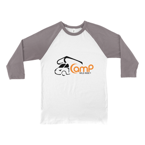 Camp Wild Ride Logo! Novelty Baseball Tee (3/4 sleeves)