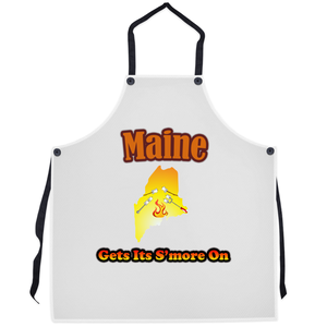 Maine Gets Its S'more On! Novelty Funny Apron