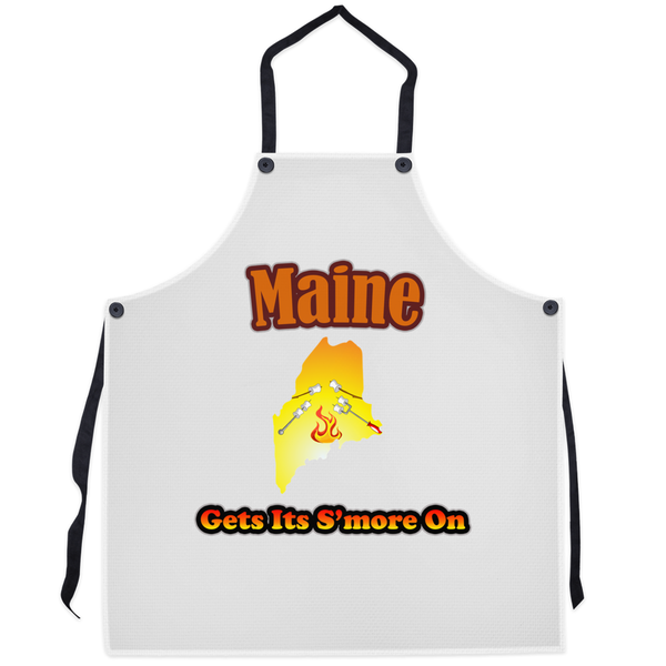 Maine Gets Its S'more On! Novelty Funny Apron - CampWildRide.com