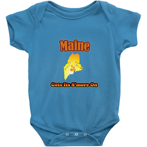 Maine Gets Its S'more On! Novelty Infant One-Piece Baby Bodysuit - CampWildRide.com