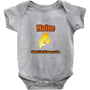Maine Gets Its S'more On! Novelty Infant One-Piece Baby Bodysuit