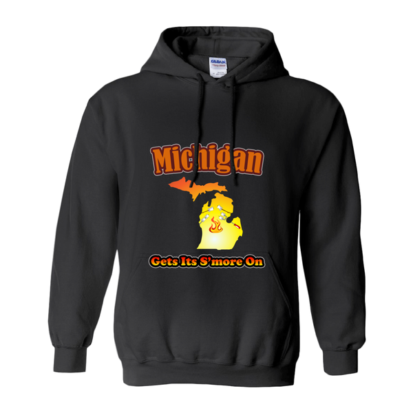 Michigan Gets Its S'more On! Novelty Hoodies (No-Zip/Pullover)
