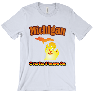 Michigan Gets Its S'more On! Novelty Short Sleeve T-Shirt - CampWildRide.com