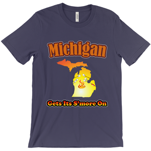 Michigan Gets Its S'more On! Novelty Short Sleeve T-Shirt