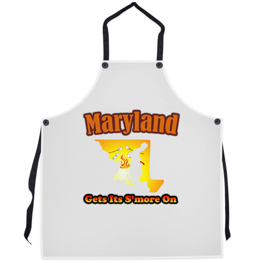 Maryland Gets Its S'more On! Novelty Funny Apron - CampWildRide.com