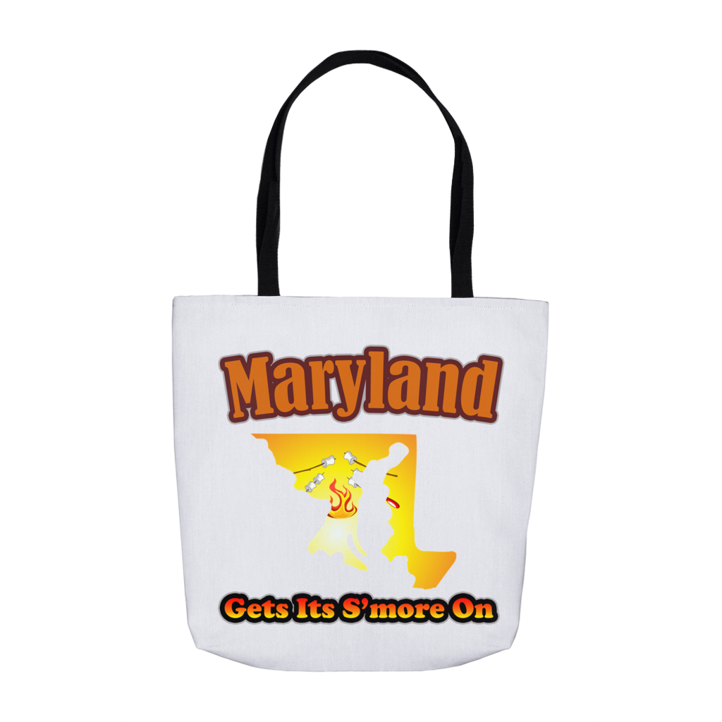 Maryland Gets Its S'more On! Novelty Funny Tote Bag Reusable - CampWildRide.com