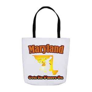Maryland Gets Its S'more On! Novelty Funny Tote Bag Reusable