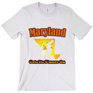 Maryland Gets Its S'more On! Novelty Short Sleeve T-Shirt - CampWildRide.com