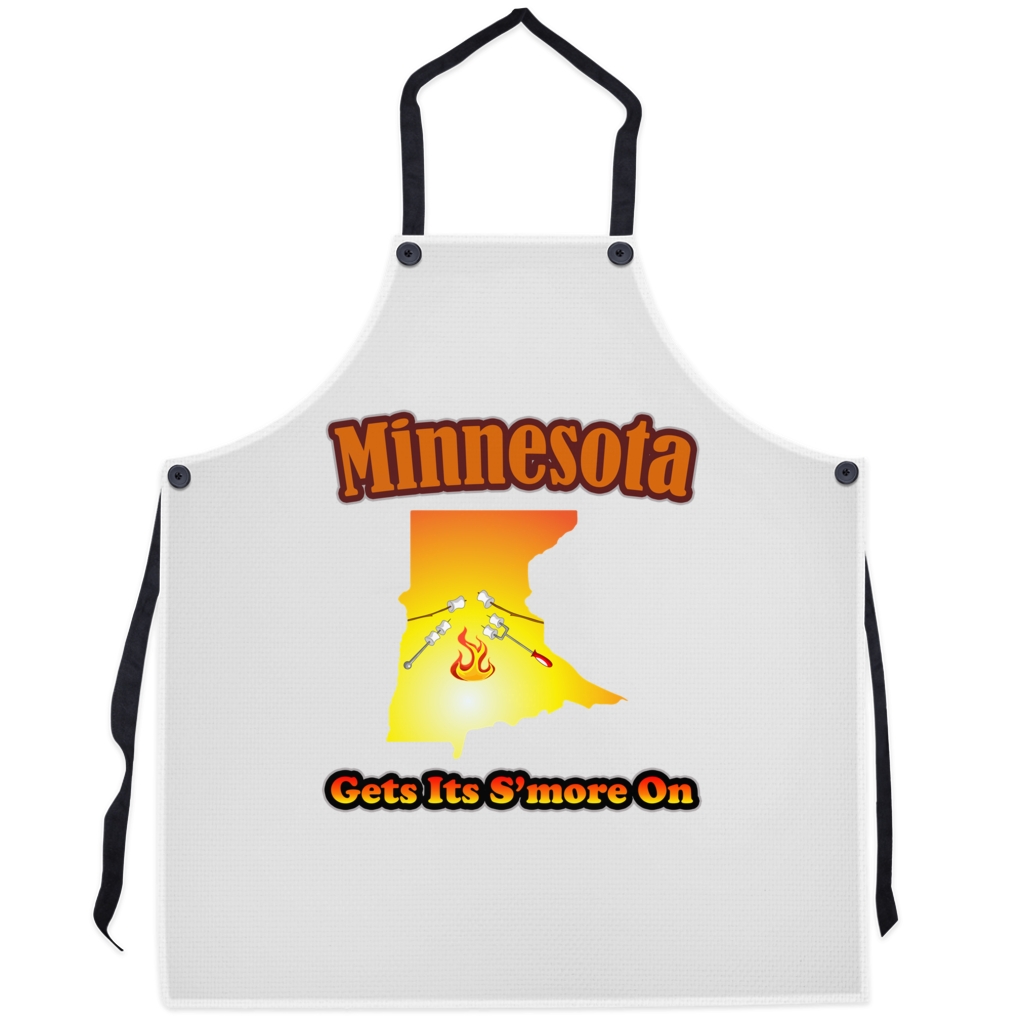 Minnesota Gets Its S'more On! Novelty Funny Apron - CampWildRide.com
