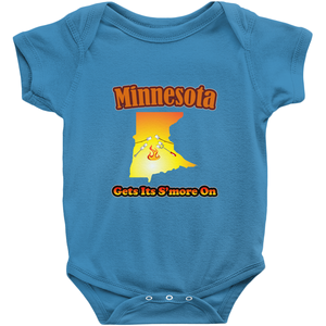 Minnesota Gets Its S'more On! Novelty Infant One-Piece Baby Bodysuit - CampWildRide.com