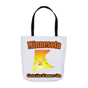 Minnesota Gets Its S'more On! Novelty Funny Tote Bag Reusable - CampWildRide.com