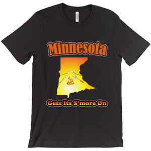 Minnesota Gets Its S'more On! Novelty Short Sleeve T-Shirt - CampWildRide.com