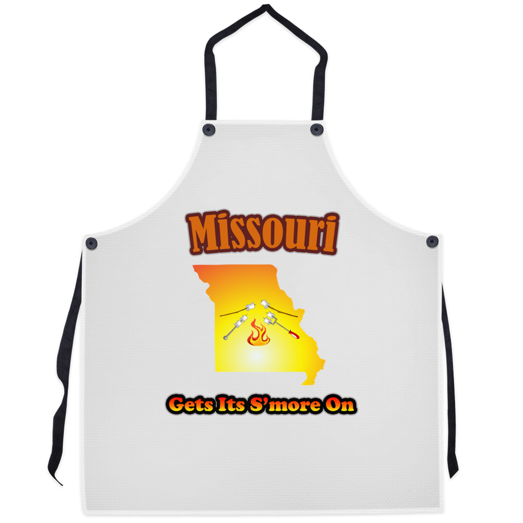Missouri Gets Its S'more On! Novelty Funny Apron - CampWildRide.com