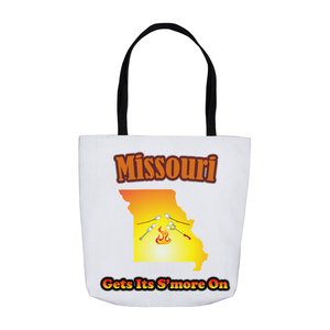 Missouri Gets Its S'more On! Novelty Funny Tote Bag Reusable - CampWildRide.com