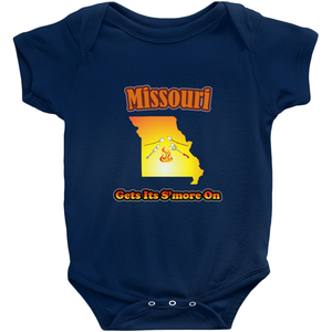 Missouri Gets Its S'more On! Novelty Infant One-Piece Baby Bodysuit - CampWildRide.com