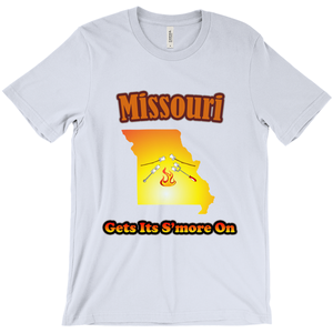 Missouri Gets Its S'more On! Novelty Short Sleeve T-Shirt - CampWildRide.com