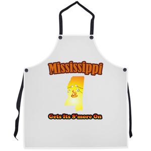 Mississippi Gets Its S'more On! Novelty Funny Apron - CampWildRide.com