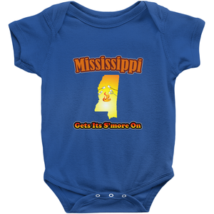 Mississippi Gets Its S'more On! Novelty Infant One-Piece Baby Bodysuit