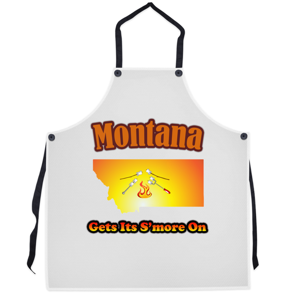 Montana Gets Its S'more On! Novelty Funny Apron - CampWildRide.com