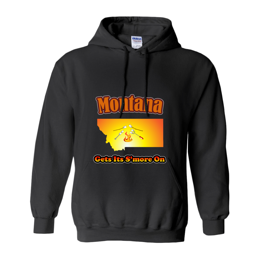 Montana Gets Its S'more On! Novelty Hoodies (No-Zip/Pullover) - CampWildRide.com