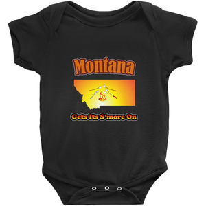 Montana Gets Its S'more On! Novelty Infant One-Piece Baby Bodysuit