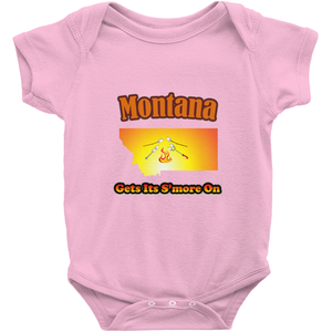 Montana Gets Its S'more On! Novelty Infant One-Piece Baby Bodysuit - CampWildRide.com