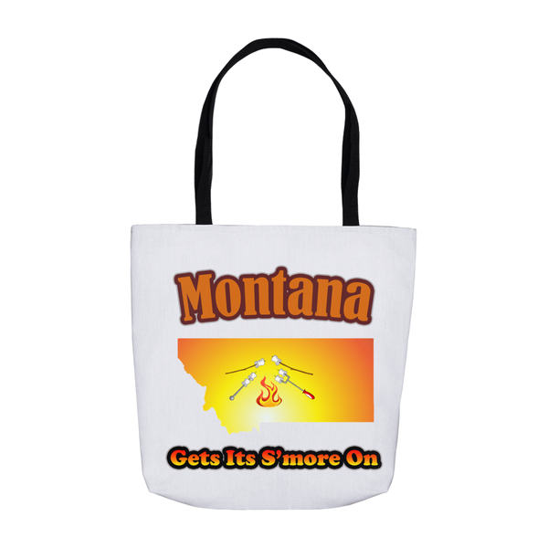 Montana Gets Its S'more On! Novelty Funny Tote Bag Reusable - CampWildRide.com