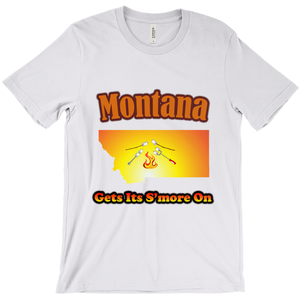 Montana Gets Its S'more On! Novelty Short Sleeve T-Shirt