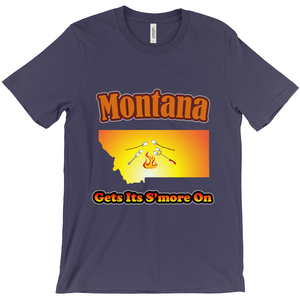 Montana Gets Its S'more On! Novelty Short Sleeve T-Shirt - CampWildRide.com