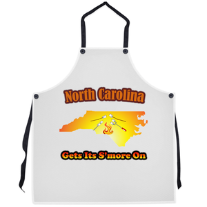 North Carolina Gets Its S'more On! Novelty Funny Apron - CampWildRide.com